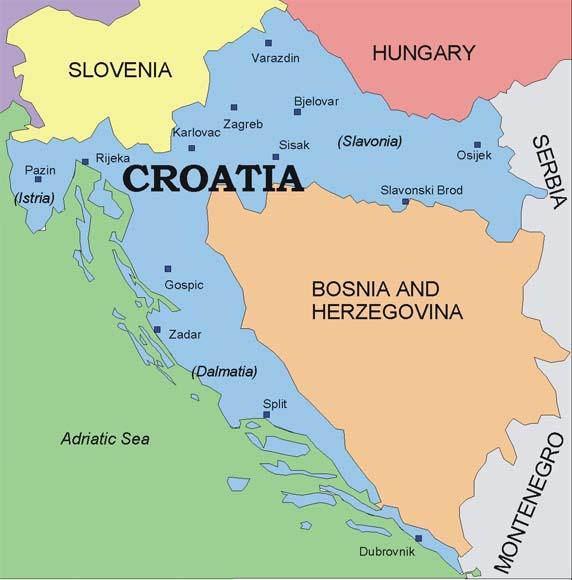 horvaatia kaart